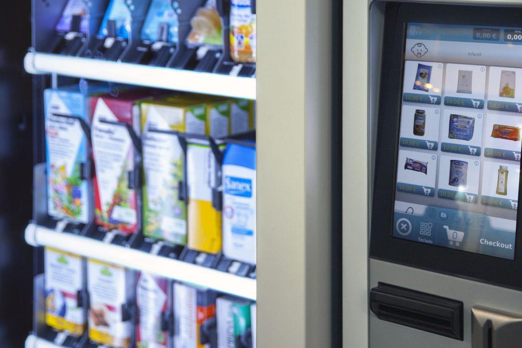 vending machine close up